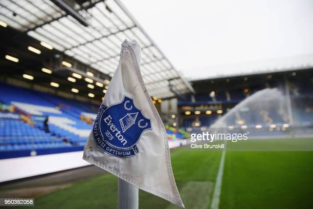 A general view inside the stadium prior to the Premier League match between Everton and Newcastle United at Goodison Park on April 23 2018 in...