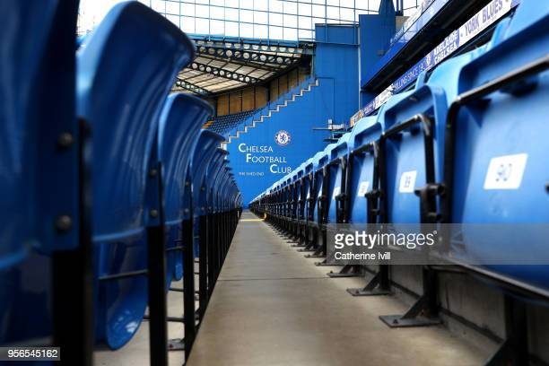 A general view inside the stadium prior to the Premier League match between Chelsea and Huddersfield Town at Stamford Bridge on May 9 2018 in London...