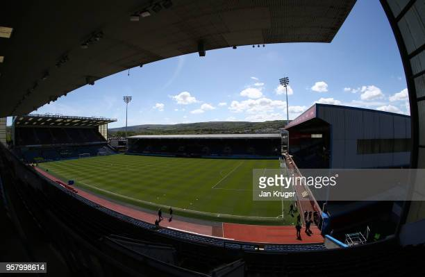 General view inside the stadium prior to the Premier League match between Burnley and AFC Bournemouth at Turf Moor on May 13 2018 in Burnley England