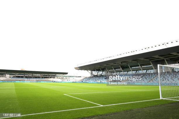 General view inside the stadium prior to the Pre-Season Friendly match between Manchester City and Barnsley at Manchester City Football Academy on...