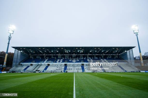 General view inside the stadium prior to the Second Bundesliga match between SV Darmstadt 98 and Hamburger SV at Jonathan-Heimes-Stadion am...