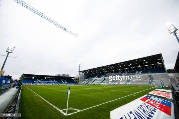 General view inside the stadium prior to the Second Bundesliga match between SV Darmstadt 98 and Holstein Kiel at Jonathan-Heimes-Stadion am...