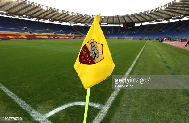 General view inside the stadium prior to the Serie A match between AS Roma and Genoa CFC at Stadio Olimpico on March 07, 2021 in Rome, Italy....