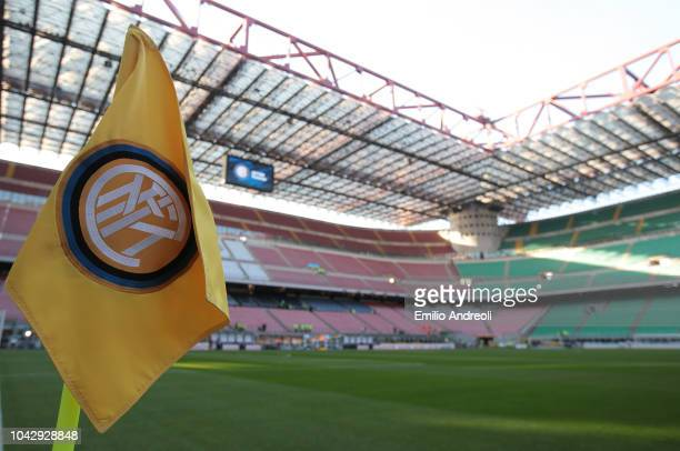 A general view inside the stadium prior to the Serie A match between FC Internazionale and Cagliari at Stadio Giuseppe Meazza on September 29 2018 in...