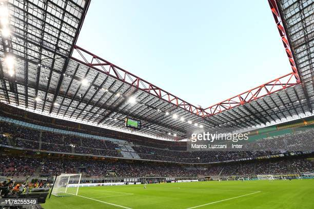 A general view inside the stadium prior to the Serie A match between FC Internazionale and Parma Calcio at Stadio Giuseppe Meazza on October 26 2019...