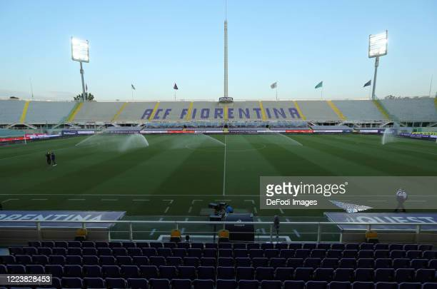General view inside the stadium prior to the Serie A match between ACF Fiorentina and US Sassuolo at Artemio Franchi on July 01, 2020 in Florence,...