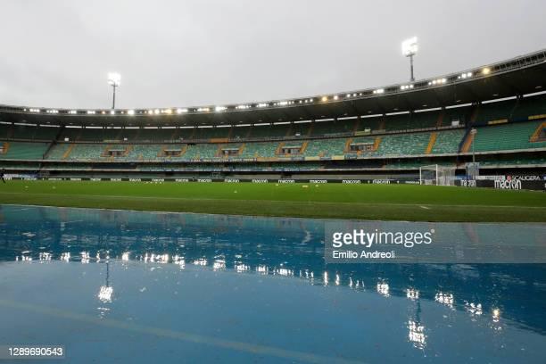 General view inside the stadium prior to the Serie A match between Hellas Verona FC and Cagliari Calcio at Stadio Marcantonio Bentegodi on December...
