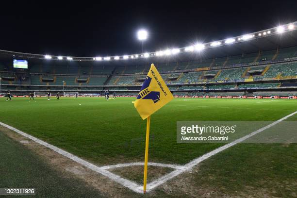 General view inside the stadium prior to the Serie A match between Hellas Verona FC and Parma Calcio at Stadio Marcantonio Bentegodi on February 15,...