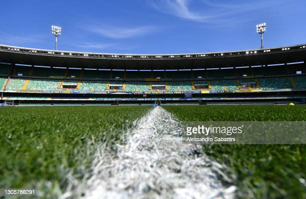 General view inside the stadium prior to the Serie A match between Hellas Verona FC and AC Milan at Stadio Marcantonio Bentegodi on March 07, 2021 in...