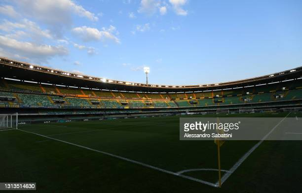 General view inside the stadium prior to the Serie A match between Hellas Verona FC and ACF Fiorentina at Stadio Marcantonio Bentegodi on April 20,...