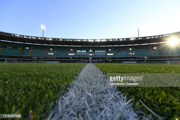 General view inside the stadium prior to the Serie A match between Hellas Verona FC and Bologna FC at Stadio Marcantonio Bentegodi on May 17, 2021 in...
