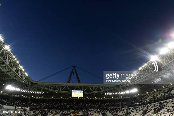General view inside the stadium prior to the Serie A match between Juventus and AC Milan at the Allianz Stadium in Turin, Italy on September 19, 2021...