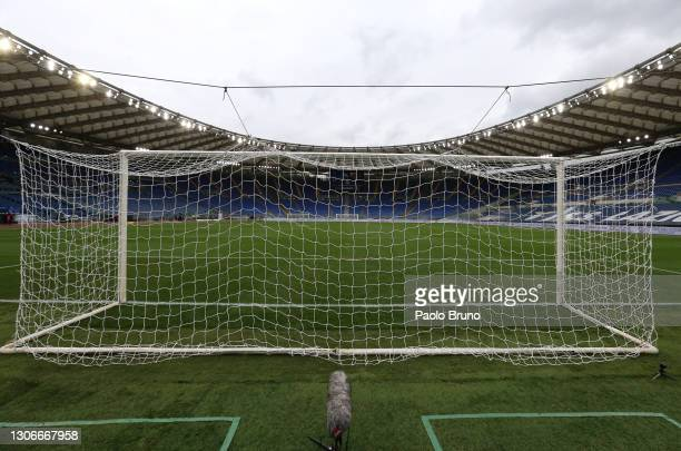General view inside the stadium prior to the Serie A match between SS Lazio and FC Crotone at Stadio Olimpico on March 12, 2021 in Rome, Italy....