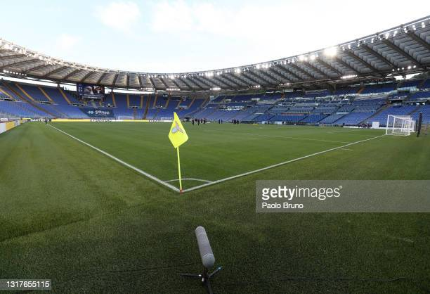 General view inside the stadium prior to the Serie A match between SS Lazio and Parma Calcio at Stadio Olimpico on May 12, 2021 in Rome, Italy....