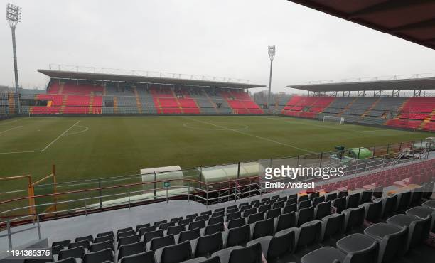 A general view inside the stadium prior to the Serie B match between US Cremonese and Venezia at Stadio Giovanni Zini on January 18 2020 in Cremona...