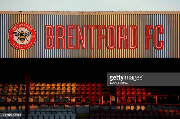 General view inside the stadium prior to the Sky Bet Championship match between Brentford and Bristol City at Griffin Park on October 02, 2019 in...
