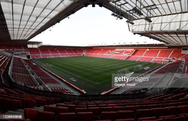 General view inside the stadium prior to the Sky Bet Championship match between Middlesbrough and Leeds United at Riverside Stadium on February 26,...