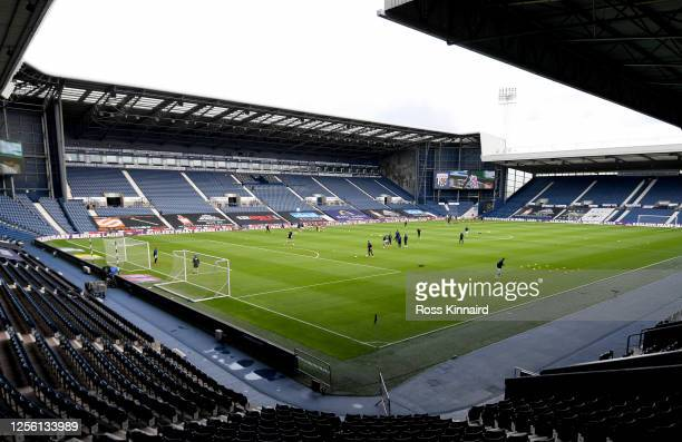 General view inside the stadium prior to the Sky Bet Championship match between West Bromwich Albion and Fulham at The Hawthorns on July 14, 2020 in...