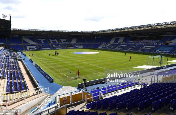 General view inside the stadium prior to the Sky Bet Championship match between Birmingham City and Brentford at St Andrew's Trillion Trophy Stadium...