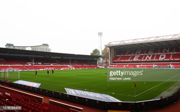 General view inside the stadium prior to the Sky Bet Championship match between Nottingham Forest and Bristol City at City Ground on October 03, 2020...