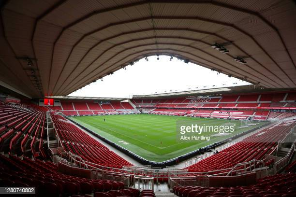 A general view inside the stadium prior to the Sky Bet Championship match between Middlesbrough and Reading at Riverside Stadium on October 17 2020...