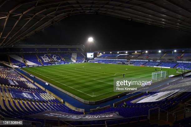 General view inside the stadium prior to the Sky Bet Championship match between Coventry City and Swansea City at St Andrew's Trillion Trophy Stadium...