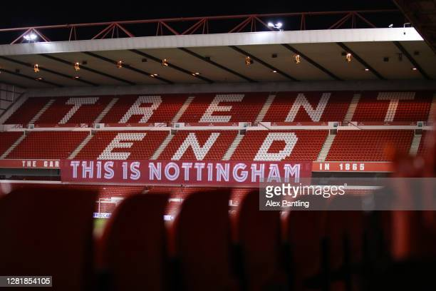 General view inside the stadium prior to the Sky Bet Championship match between Nottingham Forest and Brentford at City Ground on October 23, 2020 in...