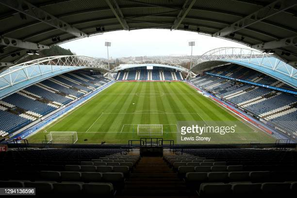 General view inside the stadium prior to the Sky Bet Championship match between Huddersfield Town and Reading at John Smith's Stadium on January 02,...