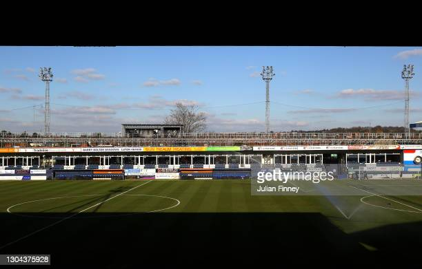 General view inside the stadium prior to the Sky Bet Championship match between Luton Town and Sheffield Wednesday at Kenilworth Road on February 27,...