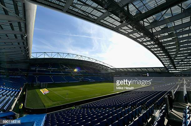 A general view inside the stadium prior to the Sky Bet Championship match between Brighton Hove Albion and Rotherham United at Amex Stadium on August...