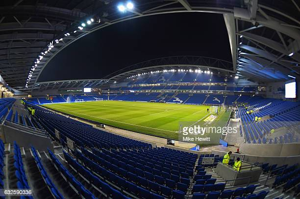 A general view inside the stadium prior to the Sky Bet Championship match between Brighton Hove Albion and Cardiff City at Amex Stadium on January 24...
