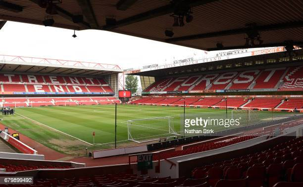 General view inside the stadium prior to the Sky Bet Championship match between Nottingham Forest and Ipswich Town at City Ground on May 7, 2017 in...