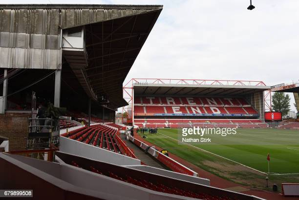 General view inside the stadium prior to the Sky Bet Championship match between Nottingham Forest and Ipswich Town at City Ground on May 7 2017 in...