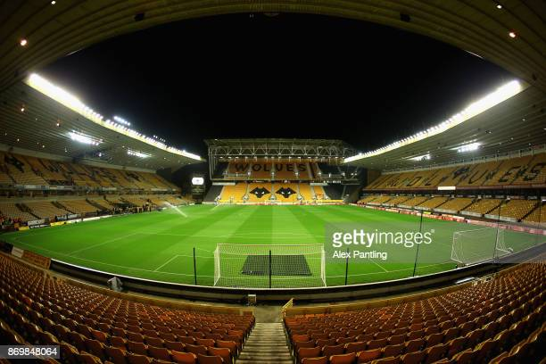 A general view inside the stadium prior to the Sky Bet Championship match between Wolverhampton Wanderers and Fulham at Molineux on November 3 2017...