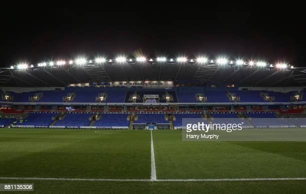 A general view inside the stadium prior to the Sky Bet Championship match between Reading and Barnsley at Madejski Stadium on November 28 2017 in...