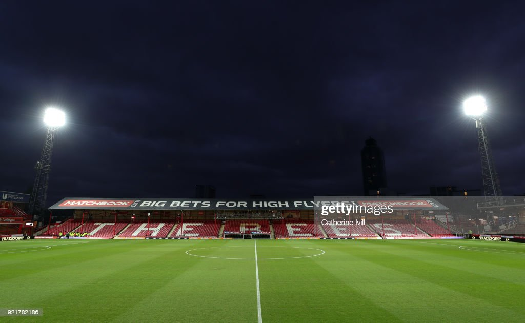 General view inside the stadium prior to the Sky Bet Championship match between Brentford and Birmingham City at Griffin Park on February 20, 2018 in Brentford, England.