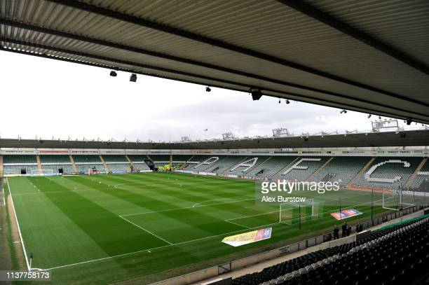 General view inside the stadium prior to the Sky Bet League One match between Plymouth Argyle and Bristol Rovers at Home Park on March 23 2019 in...