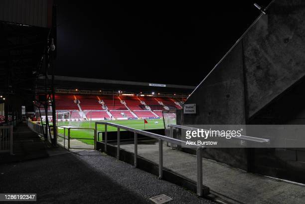 General view inside the stadium prior to the Sky Bet League One match between Swindon Town and Accrington Stanley at The Energy Check County Ground...