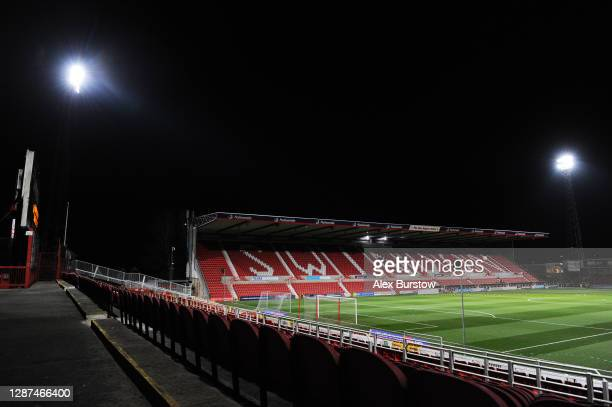 General view inside the stadium prior to the Sky Bet League One match between Swindon Town and Lincoln City at The Energy Check County Ground on...