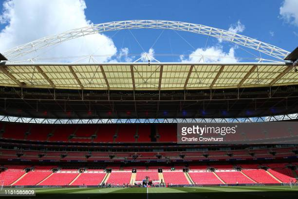 General view inside the stadium prior to the Sky Bet League Two Playoff Final match between Tranmere Rovers and Newport County at Wembley Stadium on...