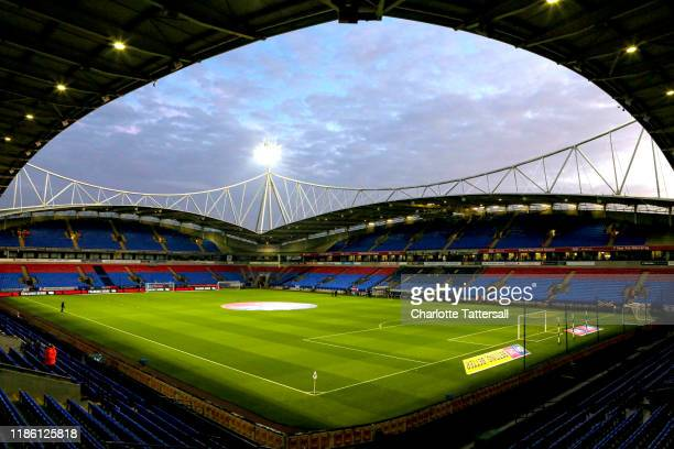 General view inside the stadium prior to the Sky Bet Leauge One match between Bolton Wanderers and Blackpool at University of Bolton Stadium on...