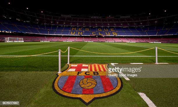 General view inside the stadium prior to the the Copa del Rey Round of 16 second Leg match between Barcelona and Celta de Vigo at Camp Nou on January...