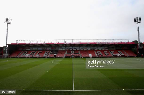 A general view inside the stadium prior to the The Emirates FA Cup Third Round match between AFC Bournemouth and Wigan Athletic at Vitality Stadium...