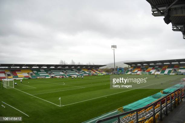General view inside the stadium prior to the U17 International Friendly match between Republic of Ireland and Germany at Tallaght Stadium on November...