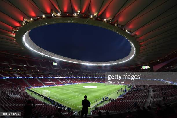 General view inside the stadium prior to the UEFA Champions League Group A match between Club Atletico de Madrid and AS Monaco at Estadio Wanda...