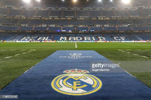 General view inside the stadium prior to the UEFA Champions League group A match between Real Madrid and Paris Saint-Germain at Bernabeu on November...