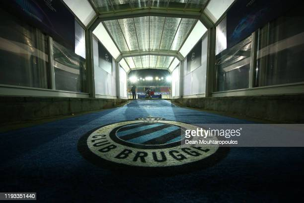 General view inside the stadium prior to the UEFA Champions League group A match between Club Brugge KV and Real Madrid at Jan Breydel Stadium on...