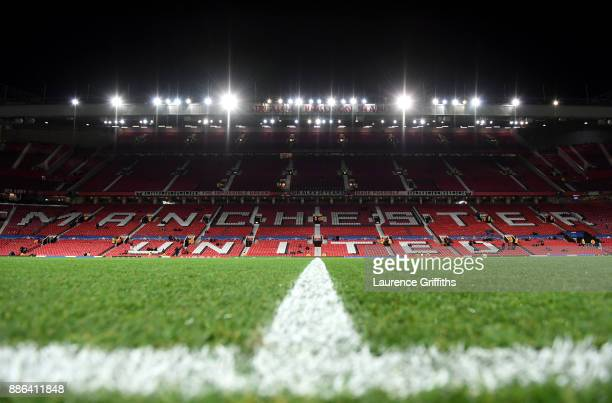 A general view inside the stadium prior to the UEFA Champions League group A match between Manchester United and CSKA Moskva at Old Trafford on...