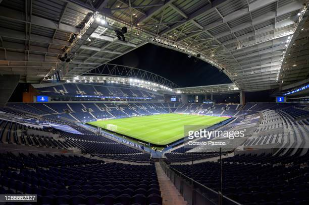 General view inside the stadium prior to the UEFA Champions League Group C stage match between FC Porto and Manchester City at Estadio do Dragao on...