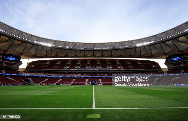 A general view inside the stadium prior to the UEFA Champions League group C match between Atletico Madrid and Chelsea FC at Estadio Wanda...